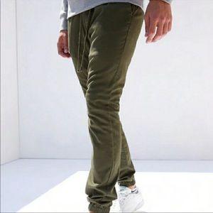 PacSun army green skinny jogger elastic waist M